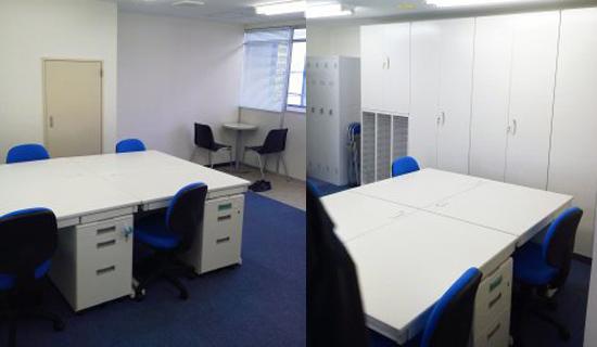 営業所の増設によるカーペット施工、ブラインド、オフィス家具納品